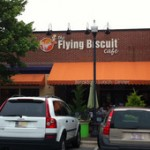 Front awning at Flying Biscuit Cafe